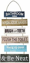 N.R Large Hanging Wall Sign,Rustic Wooden