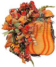 N.R Pumpkin Fall Wreath Decoration, 13.8 inch
