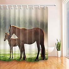 /N Shower curtain, horse, mother and child,