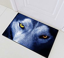 /N Wild Wolf Angry Glare Nature Fabric Shower