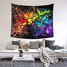 N-X Art Graffiti Butterflies Print Tapestry Wall