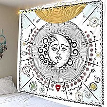 N-X Curtainssun Moon Tapestry Wall Hanging