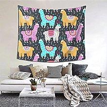 N-X Indian Alpaca Tapestry Wall Hanging print