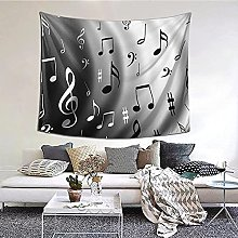 N-X Music Notes Print Tapestry Wall Hanging print
