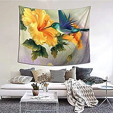 N-X Oil Painting Humming Bird Tapestry Wall