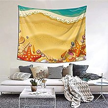 N-X Shells on the beach Tapestry Wall Hanging