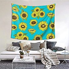 N-X Sunflowers Pattern Tapestry Wall Hanging print