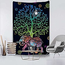 N-X tapestry Elephant Tapestry Wall Hanging Sandy