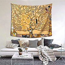 N-X Tree of Life Tapestry Wall Hanging print