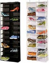 N/Y 26 Pair Shoe Organizer Over Door Hanging Shoe