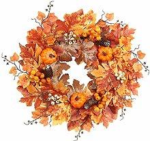 N/Y Autumn Wreath Front Door Large Artificial