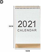 N/Y Standing Desk Calendar 2020-2021 Monthly Desk,