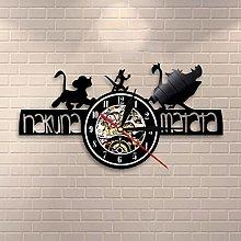 N/Z Cartoon King of the Forest Vinyl Clock Lion