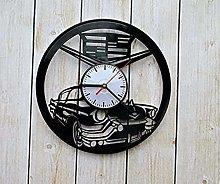 N/Z Fun gift vinyl record wall clock Cadillac car