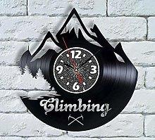 N/Z Funny gift vinyl record wall clock hiking