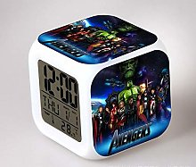 N/Z The Avengers Bedroom clock LED 7 Color Flash