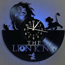 N/Z The Lion King Vinyl Record Wall Clock 12 -in