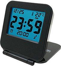 NA Mini Clamshell Travel Electronic Clock
