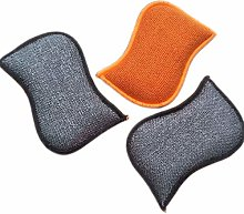 NA Washing Up Pads, 3Pcs Scourer Cleaning Sponges