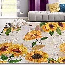Naanle Colorful Sunflower Non Slip Area Rug for