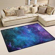 Naanle Galaxy Stars Non Slip Area Rug for Living