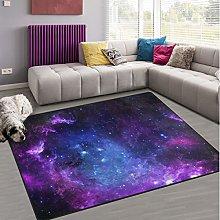 Naanle Galaxy Universe Space Non Slip Area Rug for