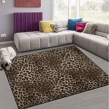 Naanle Leopard Print Non Slip Area Rug for Living