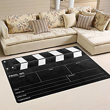 Naanle Movie Clapboard Non Slip Area Rug for