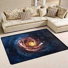 Naanle Spiral Galaxy Non Slip Area Rug for Living