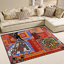 Naanle Traditional Africa Non Slip Area Rug for