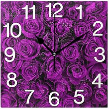 Naanle Valentine's Day Square Wall Clock,