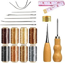 NACTECH 21Pcs Leather Sewing Kit Upholstery Repair