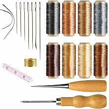 NACTECH 21Pcs Leather Waxed Thread Leather Craft