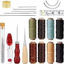 NACTECH 29Pcs Leather Craft Tools Kit Upholstery