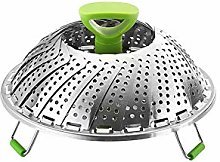 NaiCasy Vegetable Steamer Basket Strong Handle for