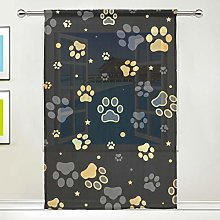NaiiaN Gold Dog Paw Print Animal Cartoon Window