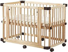 NAIMP Wooden Baby Cot Bed 100x65cm Nursery Cot Bed
