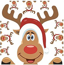 Naisde Christmas Wall Stickers, Reindeer Elk