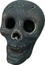 Naisde Halloween Imitated Human Skull Gas Log