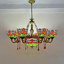 Naiyn E27 Retro Hanging Light Tiffany Stained