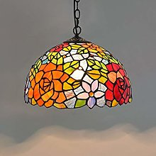 Naiyn Farmhouse Chandeliers Tiffany Stained Glass