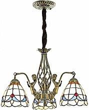 Naiyn Victorian E27 Decorate Chandelier Tiffany
