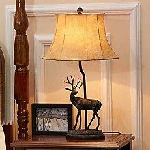nakw88 Desk lamp LED Elk Wrought Iron Fabric