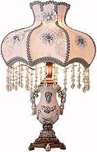 nakw88 Table Lamp European White Tassel Pendant
