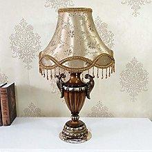 nakw88 Table Lamp Modern European Brown Shade