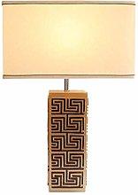 nakw88 Table Lamp Retro Simple White Square Cloth