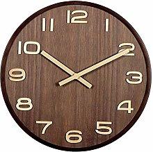 nakw88 Wall clock - Brown striped wood wall clock