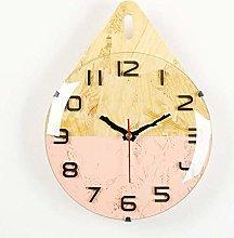 nakw88 Wall clock Pink wall clock/gray kitchen