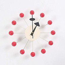 nakw88 Wall clock Solid wood clock, elegant metal