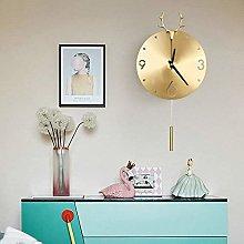 nakw88 Wall clock Wallow clock with gold corners,